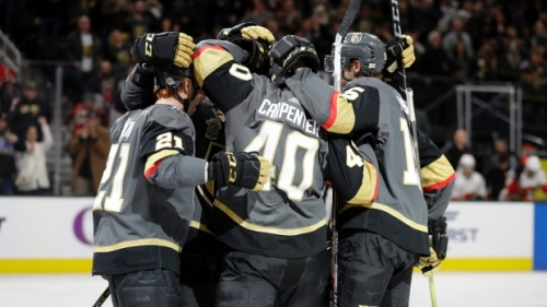 Seven Golden Knights score in rout of Flames - Article - TSN