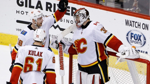 Jon Gillies makes 35 saves as Flames beat Coyotes