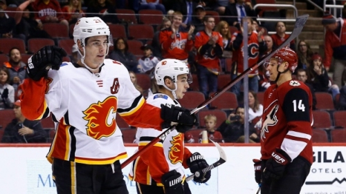 Monahan nets league-leading 11th game-winner as Flames beat Coyotes   CBC Sports