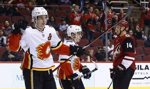 Coyotes' 4-game winning streak ends in 'sluggish' loss to Flames