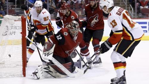Jon Gillies makes 35 saves, Flames beat Coyotes 5-2