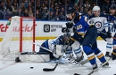 Hellebuyck posts 34-save shutout as Jets edge Blues