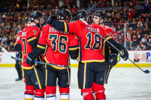Flames Earn Big Home Win over Avalanche
