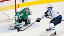 Laine scores twice, Jets beat Stars to move into tie for Central lead