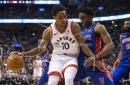 Conference-leading Raptors rout Pistons