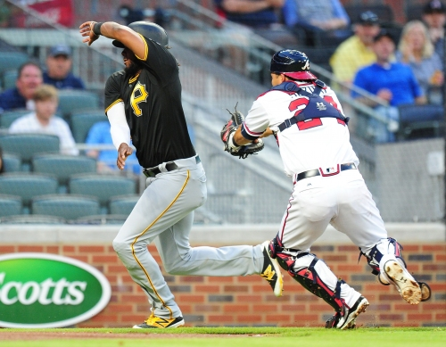 Atlanta Braves lineup against the Pittsburgh Pirates