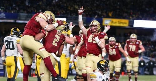 Boston College Football Holds First Practice