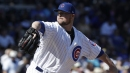 Jon Lester is working on a very unusual throw to the bases