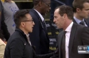 Joe Tsai takes in Warrior game, talks with Kenny Atkinson, Jeremy Lin