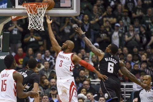 Rockets win 17th straight game in Milwaukee