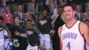 OKC-lifer Nick Collison dunks and Thunder's bench reaction is priceless