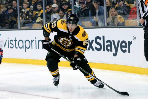 Chicago Blackhawks Anthony Duclair and Boston Bruins Brad Marchand Both Out After Collision