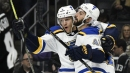 Blues notebook: Almost a scratch, Bortuzzo opens the scoring