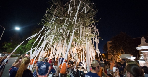 USA Today readers vote Auburn's rolling of Toomer's Corner as best tradition in sports