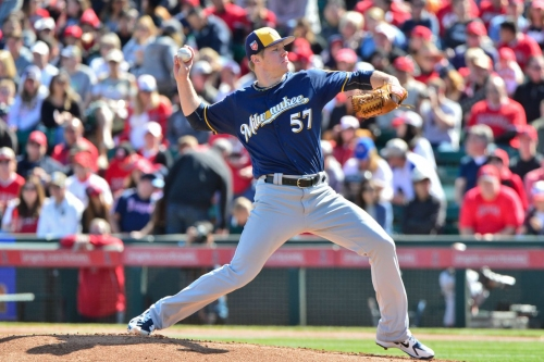 Chase Anderson named as Opening Day starter for the Milwaukee Brewers; Yovani Gallardo to work from bullpen
