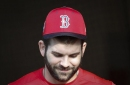 Mitch Moreland, Boston Red Sox 1B, got 'sports coat' call to majors because he plays with 'chip' on his shoulder