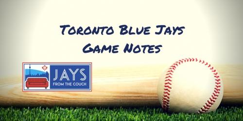 Toronto Blue Jays Game Notes: Lazy Sunday, Quiet Bats