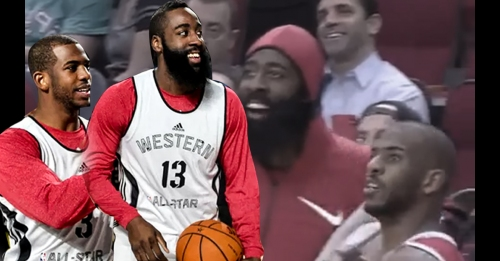 Video: James Harden hypes up Chris Paul vs. Spurs