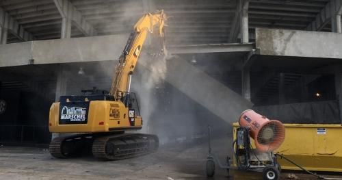 LOOK: Missouri begins south end zone demolition at Memorial Stadium