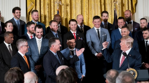 Astros make championship trip to White House