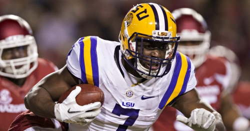 LOOK: Leonard Fournette posts adorable photo of son with LSU coach Ed Orgeron
