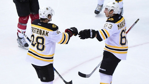 Watch David Pastrnak's Crazy No-Look Pass On Brad Marchand's Goal