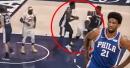 Video: Joel Embiid pushes off Lance Stephenson