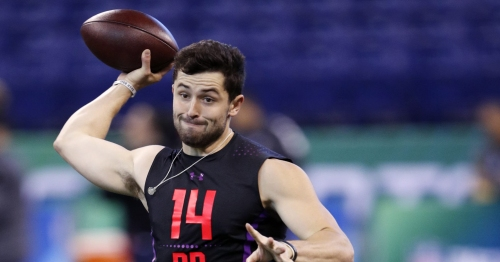 Report: Browns coach, GM skipping Baker Mayfield's pro day