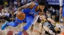 Oklahoma City Thunder's Paul George injures groin vs. Atlanta Hawks