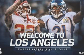 WATCH: Rams introduce new CBs Marcus Peters, Aqib Talib