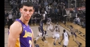 Video: Lonzo Ball freezes Shaun Livingston with jab step