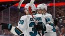 Hertl's two goals lift Sharks to overtime win against Oilers