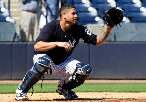 Gary Sanchez drives in 5, but Aaron Boone touts his defensive work at Yankees camp