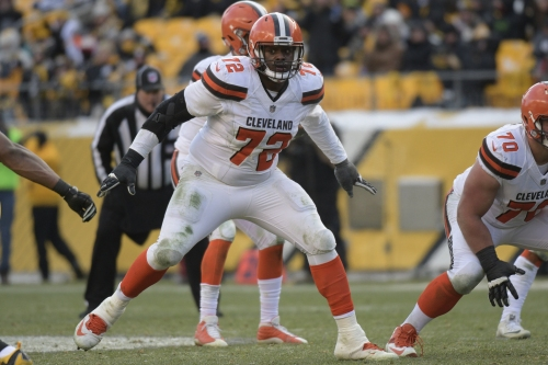 Joe Thomas already helping Shon Coleman make the switch to left tackle