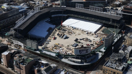 Cubs say Wrigley Field upgrades remain on track for home opener