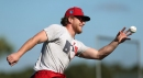 Diving, ranging, and roaming center, Bader races headlong after bench spot