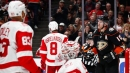 Gibson makes 28 saves as Ducks double up Red Wings