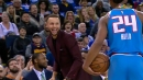 Video: Stephen Curry mocks Buddy Hield to his face after he steps out