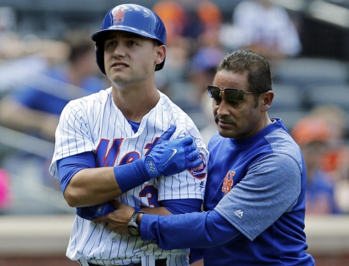 Mets' Conforto takes first at-bats since dislocating shoulder