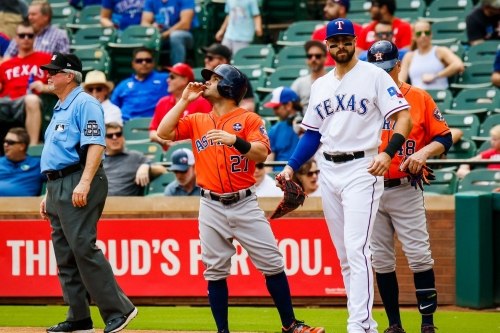 Houston Astros opening series starters against the Texas Rangers