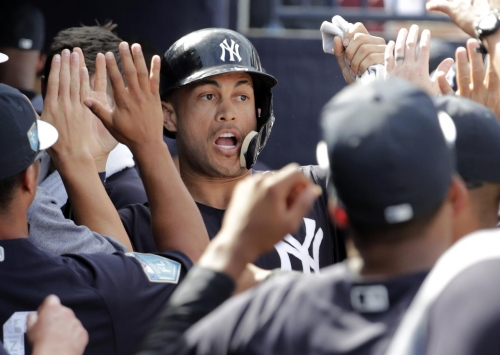Giancarlo Stanton feeling comfortable in left field and clubhouse