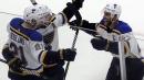 Blues rally for overtime win over Blackhawks