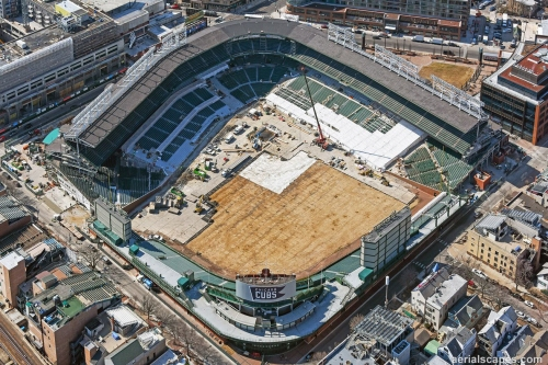 Wrigley Field construction update: Special aerial edition