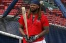 Which Boston Red Sox swings heaviest bat? Is it J.D. Martinez, Hanley Ramirez, or maybe even 'Laser Show' Dustin Pedroia?