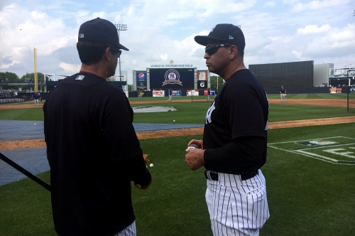 Alex Rodriguez arrives at Yankees' camp for first time