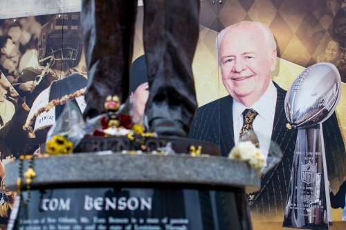 Parking, entrance information released for public attending Tom Benson visitation Wednesday, Thursday