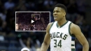 Video: Giannis Antetokounmpo stretches for the massive alley-oop slam