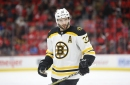 Patrice Bergeron returns to Boston Bruins practice, skates with team