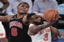 Hardaway, Beasley lead Knicks past depleted Bulls, 110-92
