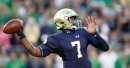 Brian Kelly singles out chemistry of Brandon Wimbush and emerging WR
